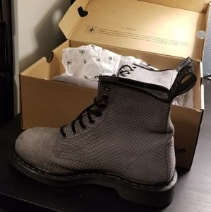 Grey Python 1460 Dr. Martens Boots NEW
